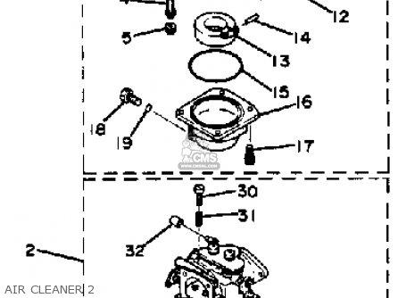 Yamaha 90etlk 1985 parts list partsmanual partsfiche