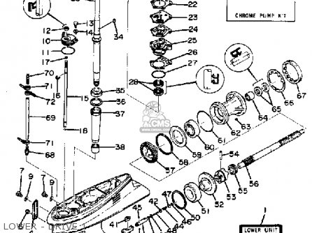 Yamaha 90etln/etxn 1990 parts list partsmanual partsfiche