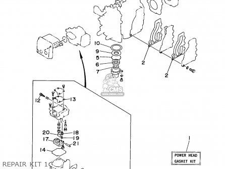 Yamaha 9.9/15MHW 1998 parts lists and schematics