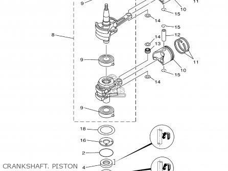 Yamaha 9.9/15mshz 2001 parts list partsmanual partsfiche