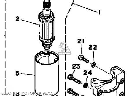 Yamaha 9.9g/15g 1988 parts list partsmanual partsfiche