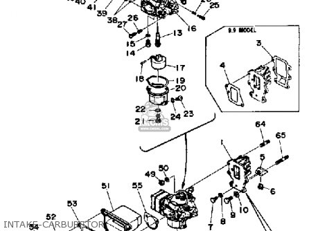 Yamaha 9.9g/15g 1988 parts list partsmanual partsfiche