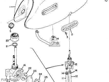 Yamaha As2c 1969 parts list partsmanual partsfiche