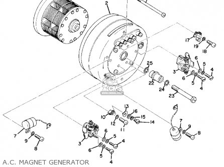 Yamaha As2c 1969 Usa parts list partsmanual partsfiche