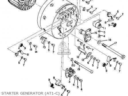 Yamaha At1c 1971 parts list partsmanual partsfiche