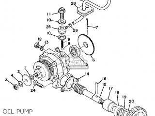 Yamaha At1mx Motocross 1971 Usa parts list partsmanual