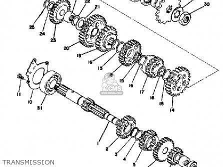Yamaha At2 1972 Usa parts list partsmanual partsfiche