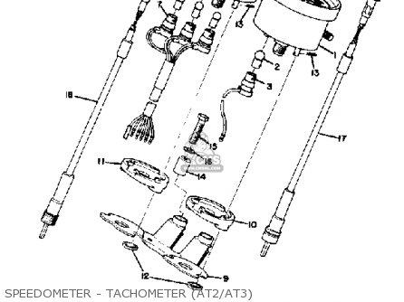 Yamaha At3 1972/1973 parts list partsmanual partsfiche