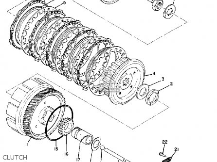 Yamaha Atmx 1972 1973 Usa parts list partsmanual partsfiche