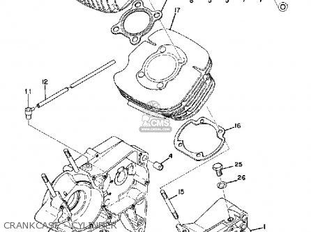 Yamaha ATMX 1972 1973 USA parts lists and schematics