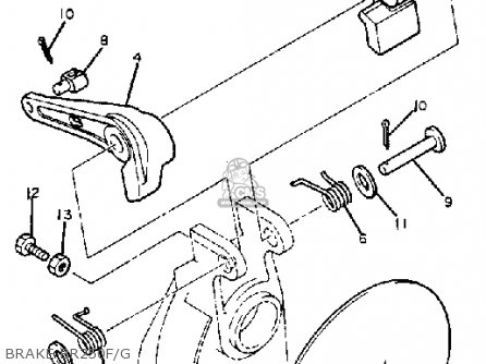 Yamaha Br250g Bravo 1982/1983 parts list partsmanual