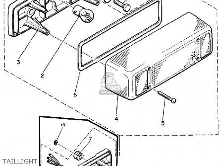 Yamaha BR250J BRAVO 1985/1986 parts lists and schematics