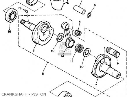 Yamaha Br250k Bravo 1985/1986 parts list partsmanual