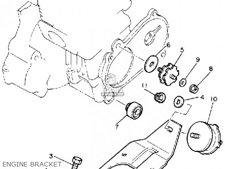 Yamaha Br250k Bravo 1985/1986 parts list partsmanual