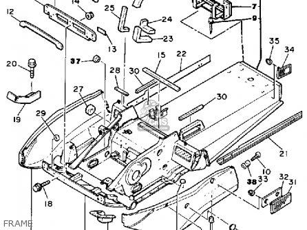 Yamaha Br250l Bravo 1987 parts list partsmanual partsfiche