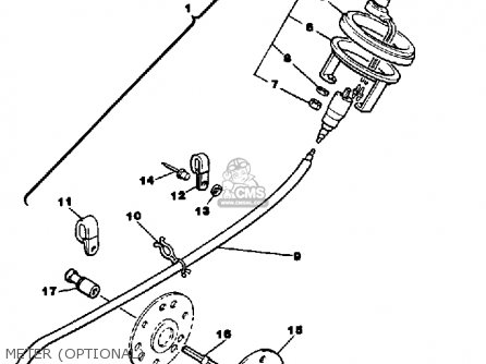 Yamaha Br250p Bravo 1990 parts list partsmanual partsfiche