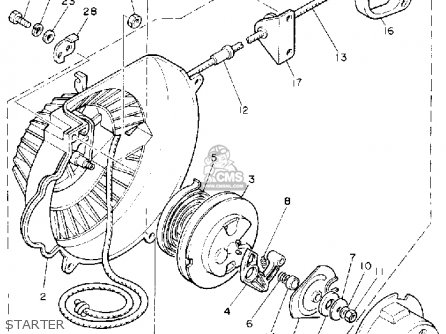 Yamaha Br250t Bravo 1993 parts list partsmanual partsfiche
