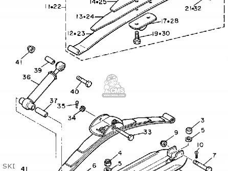 Yamaha Br250tl 1987 parts list partsmanual partsfiche