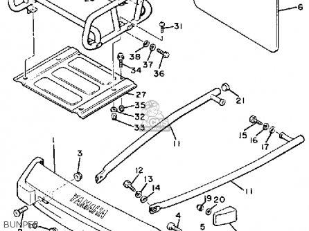 Yamaha Br250tn Bravo 1989 parts list partsmanual partsfiche