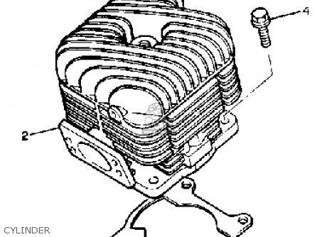 Yamaha Bravo Br250h 1984 parts list partsmanual partsfiche
