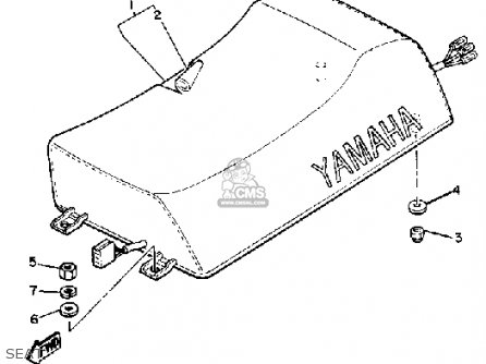 Yamaha Bravo Br250h 1984 parts list partsmanual partsfiche