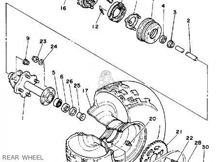 Yamaha BW200 BIG WHEEL 1986 (G) USA parts lists and schematics