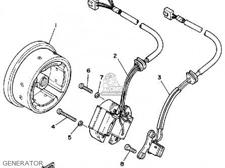 Yamaha Bw200e Big Wheel 1986 (g) Usa parts list