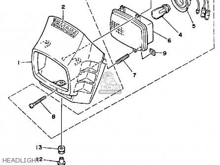 Yamaha Bw200e Big Wheel 1987 (h) Usa parts list