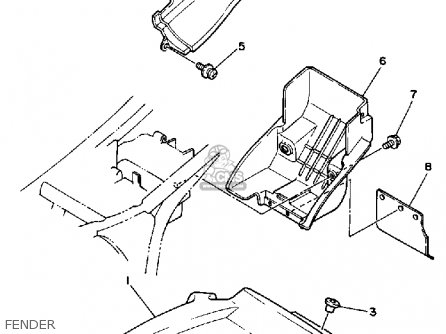 Yamaha Bw350 Big Wheel 1987 (h) Usa parts list partsmanual