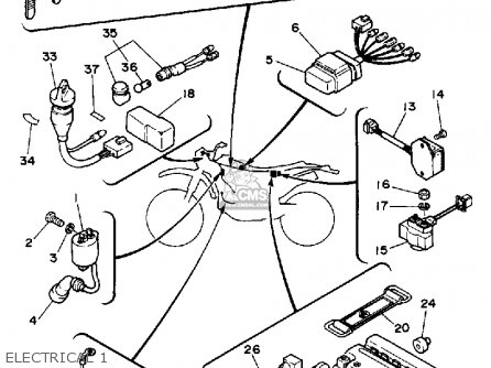 Yamaha Bw350 Big Wheel 1988 (j) Usa parts list partsmanual