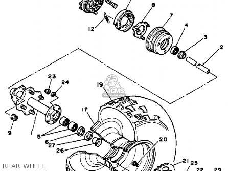 Yamaha BW350 BIG WHEEL 1988 (J) USA parts lists and schematics