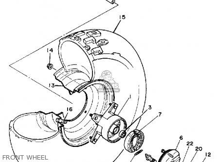Yamaha Bw80 Big Wheel 1987 (h) Usa parts list partsmanual