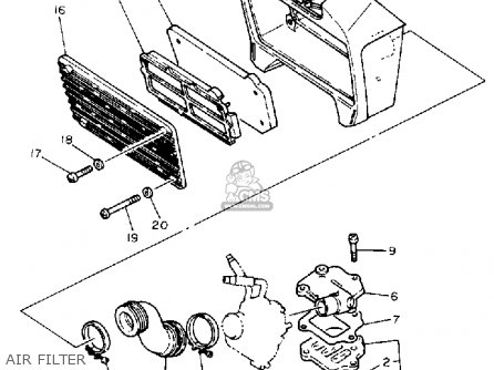 Yamaha Bw80 Big Wheel 1990 (l) Usa parts list partsmanual