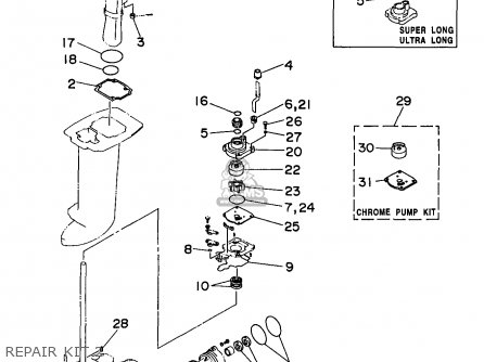 Yamaha C30elrv 1997 parts list partsmanual partsfiche