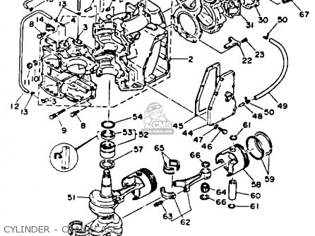 Yamaha C55elrr 1993 parts list partsmanual partsfiche