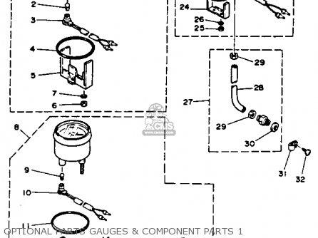 Yamaha C55elrr 1993 parts list partsmanual partsfiche