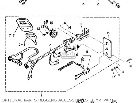 Yamaha C85TRQ 1992 parts lists and schematics