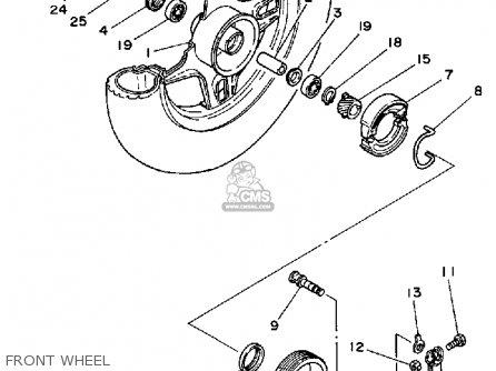 Yamaha Ca50l 1984 Riva parts list partsmanual partsfiche