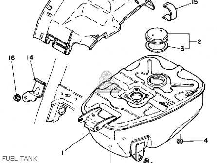 Yamaha Ca50l Riva 1983-1985 parts list partsmanual partsfiche