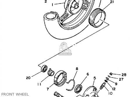 Yamaha Ce50es Riva Jog 1986 parts list partsmanual partsfiche