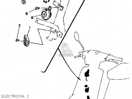 Yamaha CE50ET 1987 RIVA JOG parts lists and schematics