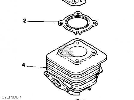 Yamaha Ce50et Riva Jog 1987 parts list partsmanual partsfiche