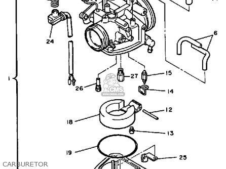 Yamaha Cf300k Inviter 1986 parts list partsmanual partsfiche