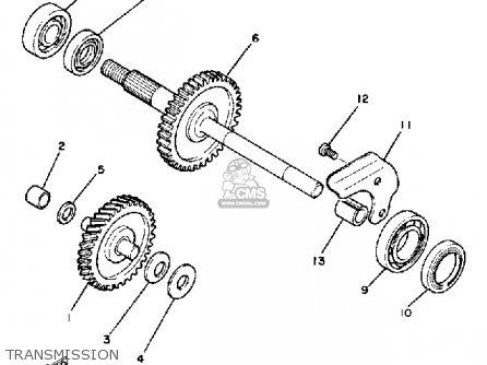 Yamaha Cv50l 1984 Riva 50 parts list partsmanual partsfiche