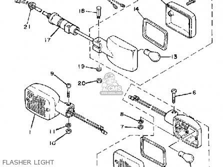 Yamaha Cv50l Riva 50 1984 parts list partsmanual partsfiche