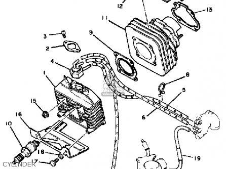 Yamaha Cv80k Riva 1983 parts list partsmanual partsfiche