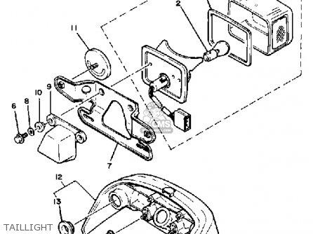 Yamaha Cv80k Riva 1983/1984 parts list partsmanual partsfiche