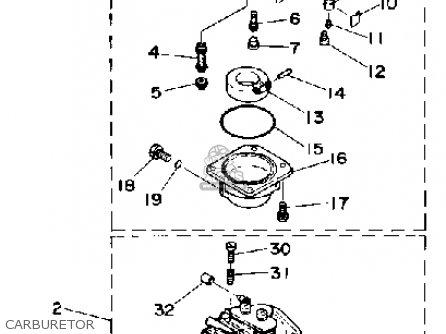 Yamaha Cv85e(et)d 1990 parts list partsmanual partsfiche