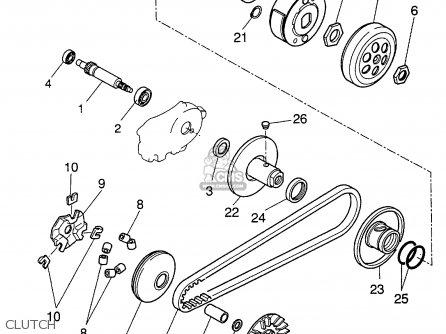 Yamaha Cw50tn 2001 parts list partsmanual partsfiche