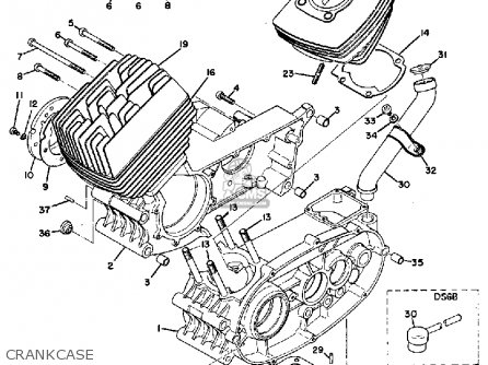 Yamaha DS6B 1969 USA parts lists and schematics